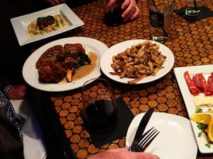 Some of JAM's offerings, Duck Poutine, Chicken and Waffles and Tile Fish