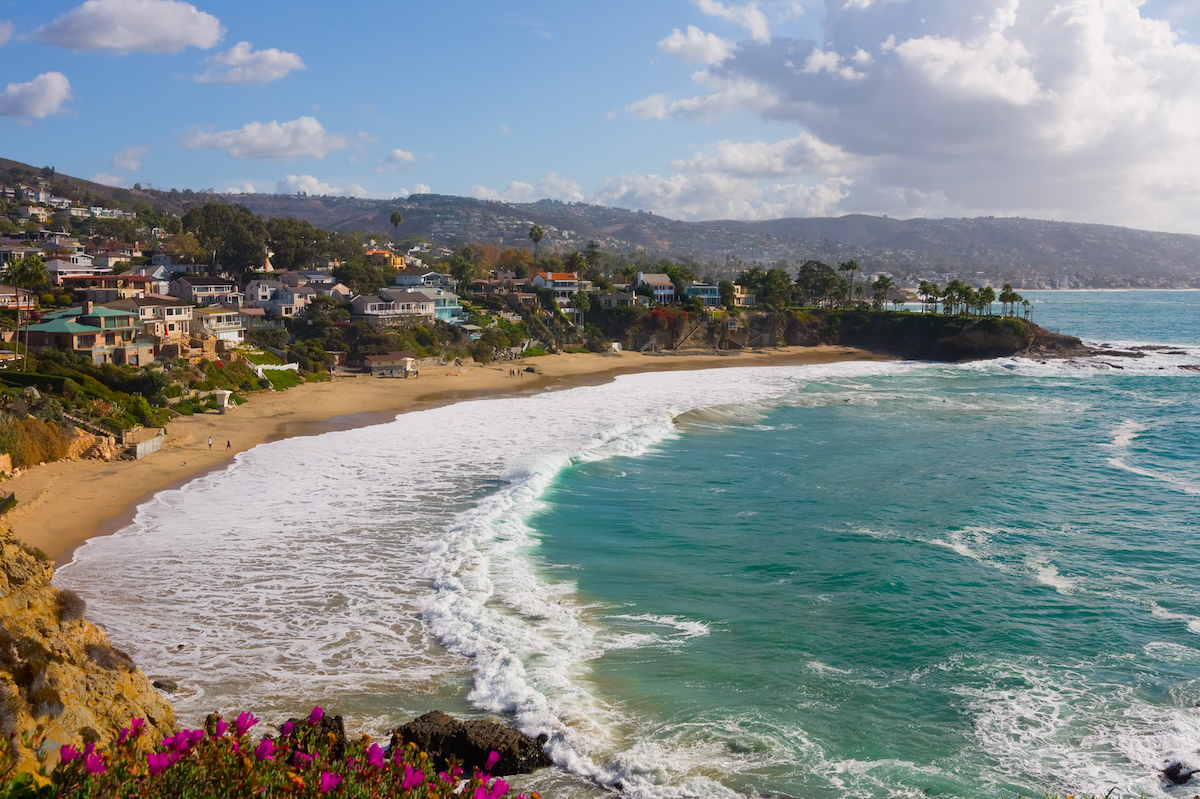Beautiful Laguna Beach in Orange County California ** Note: Slight blurriness, best at smaller sizes