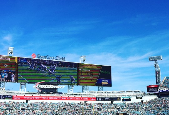 Everbank Field on game day, an example of Jax sports
