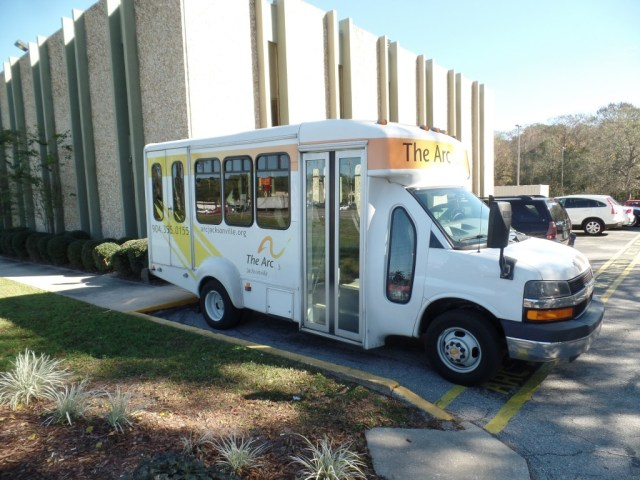The Arc's buses provide transportation from group homes to their campuses