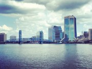 The Jacksonville, FL skyline