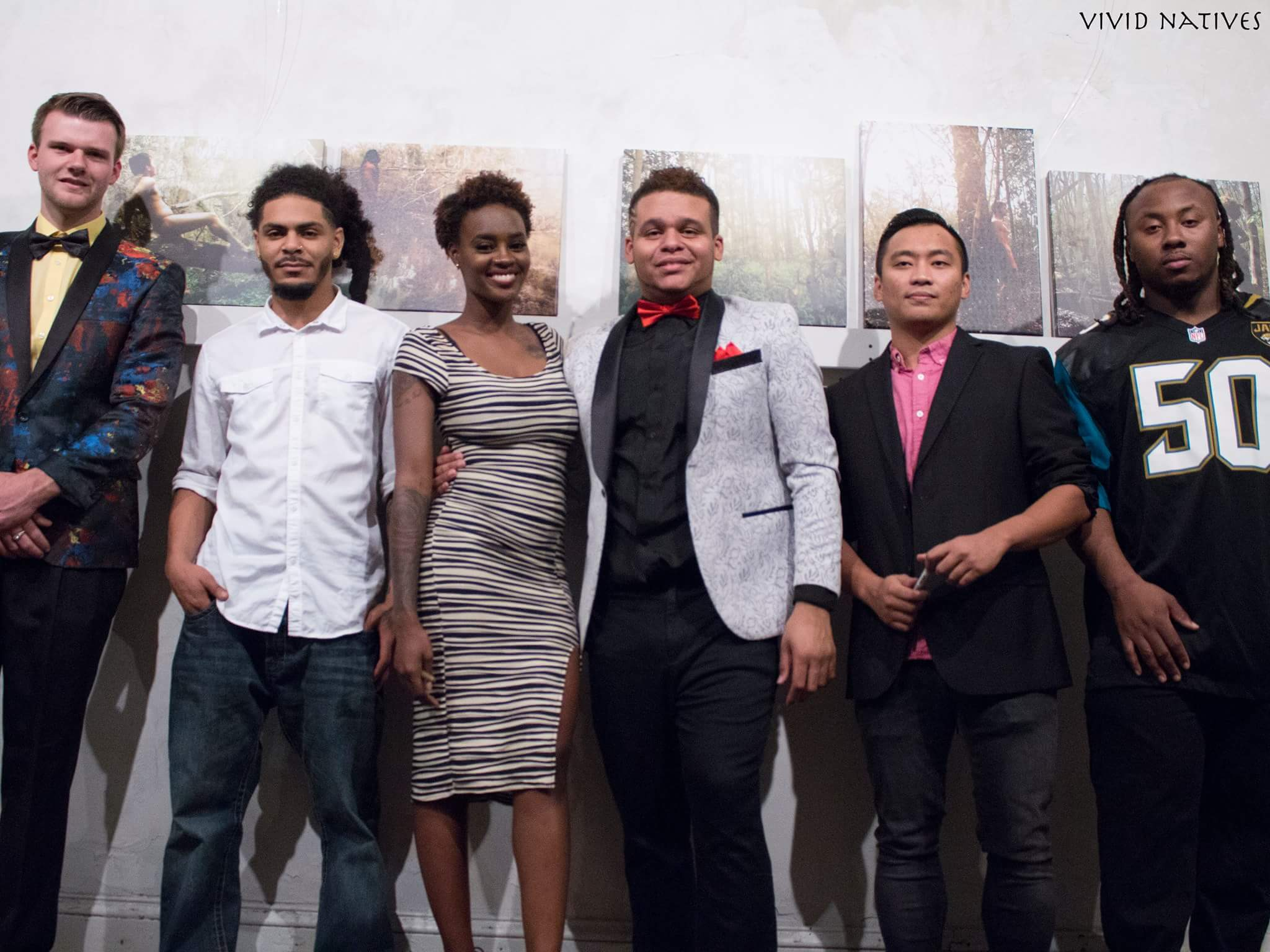 Anthony Smith and his photoshoot models