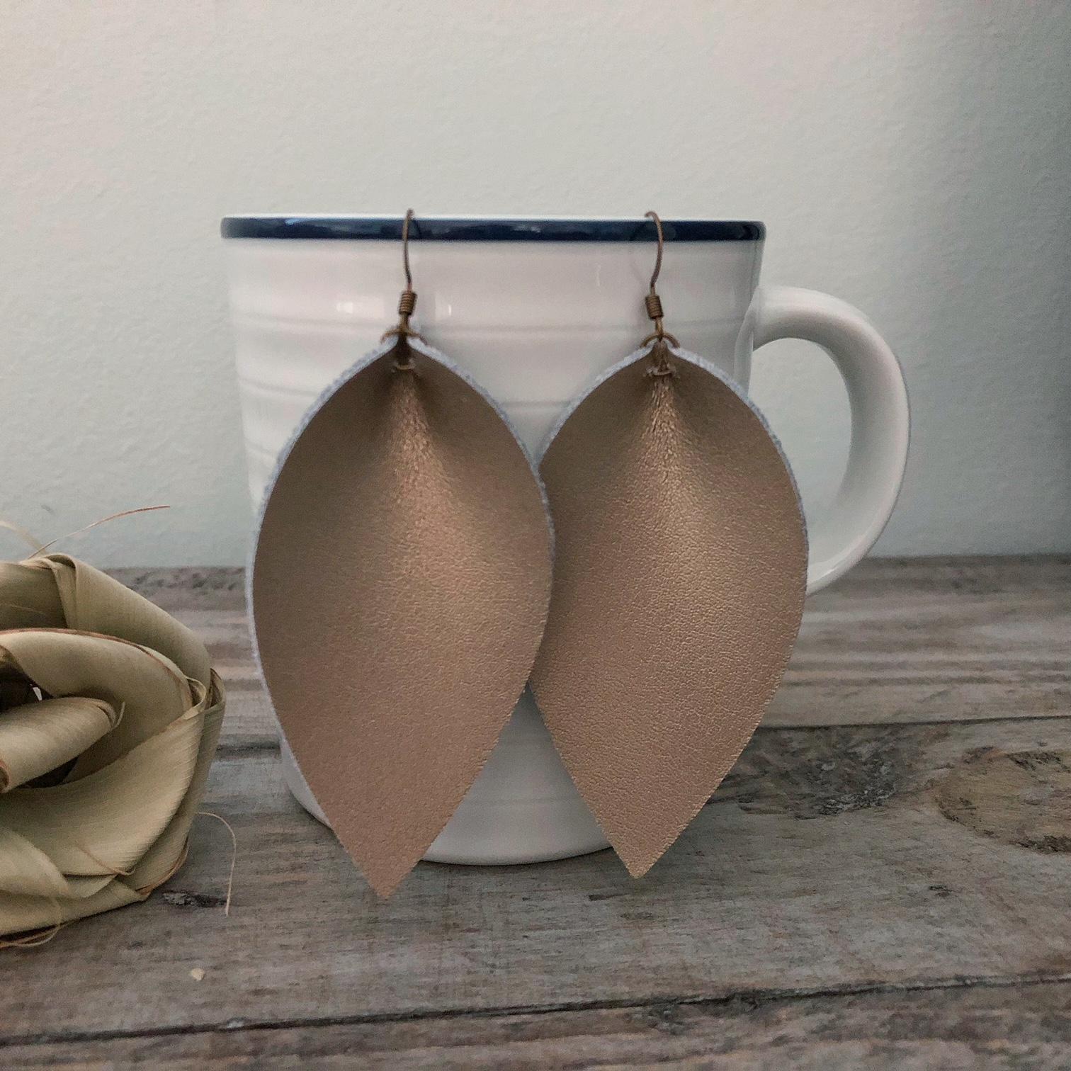 Handmade Leather \u201cJoanna Gaines\u201d style Earrings