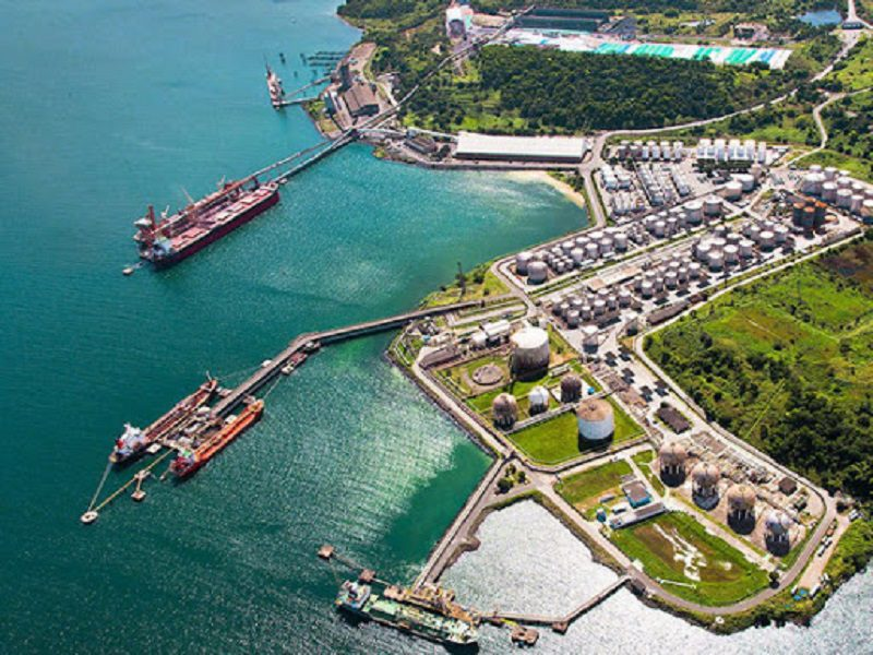 Foto do Porto de Aratu