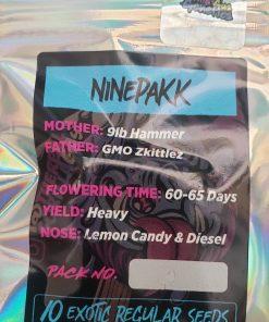 NinePakk regular seeds from Gorilla Gas for Coastal Mary Seeds