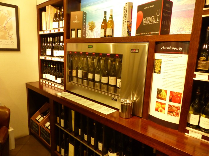 Wine selections for tastings at The Winery