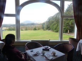 View from our table at Chateau Tongariro