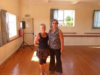 With Nia teacher Sally Cook after class
