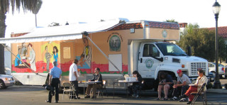 The mobile health unit of the UCSD/St Vincent de Paul Health Center, San Diego, California