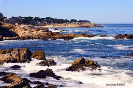 The Monterey Peninsula coastline