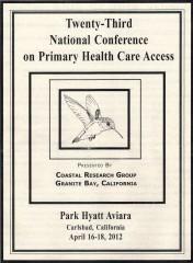 April 16-18, 2012 (15 Prescribed Units)