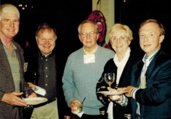 At the 10th National (left to right). William H Burnett,, California Health Manpower Policy Commission; David Marsland, MD, VIrginia Commonwealth University, David Sundwall, MD and Marian Bishop, PhD, University of Utah and Samuel C. Matheny, MD, University of Kentucky