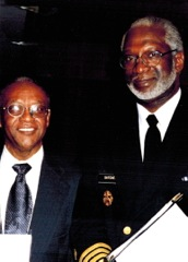 Surgeon General David Satcher (right) at the 1999 National Conference with Ludlow Creary, MD of Drew-King Medical Center, Los Angeles
