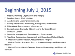 LCME Requirments beginning July 1, 2015
