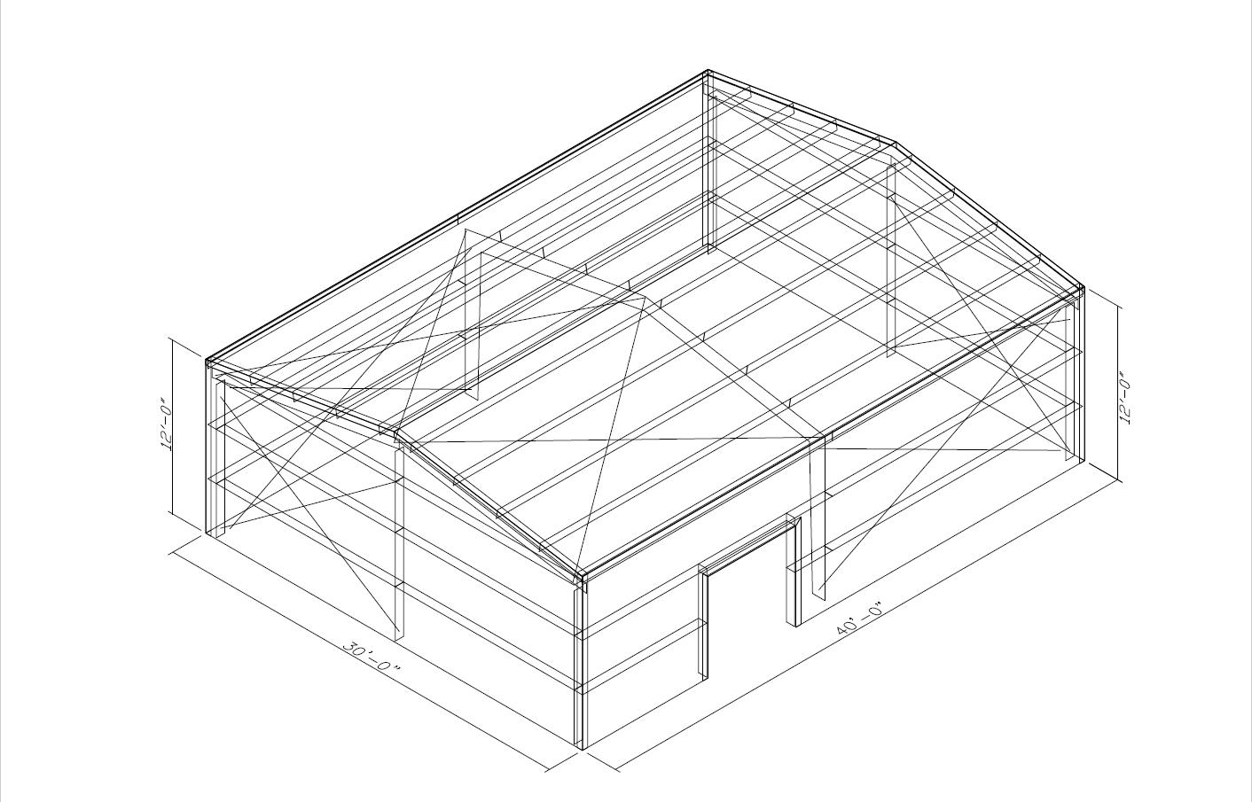 Prefabricated 30 X 40 Metal Buildings For Sale