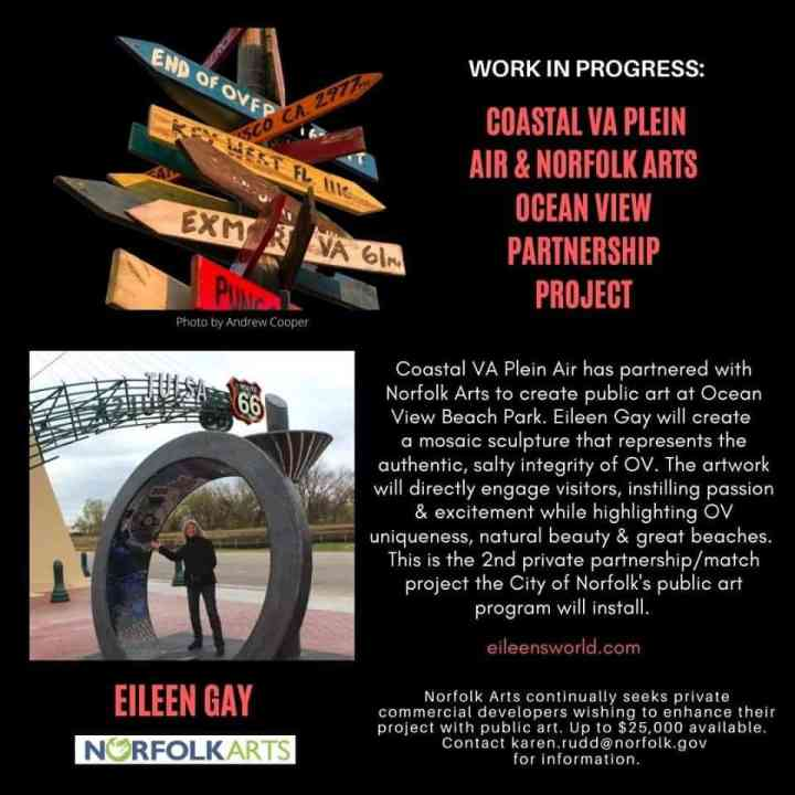 Eileen Gay to create a mosaic sculpture for Ocean View Beach Park