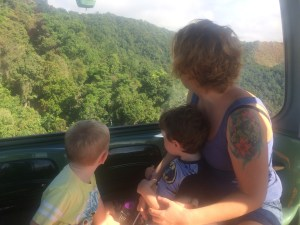 Family enjoying Skyrail Rainforest Cableway