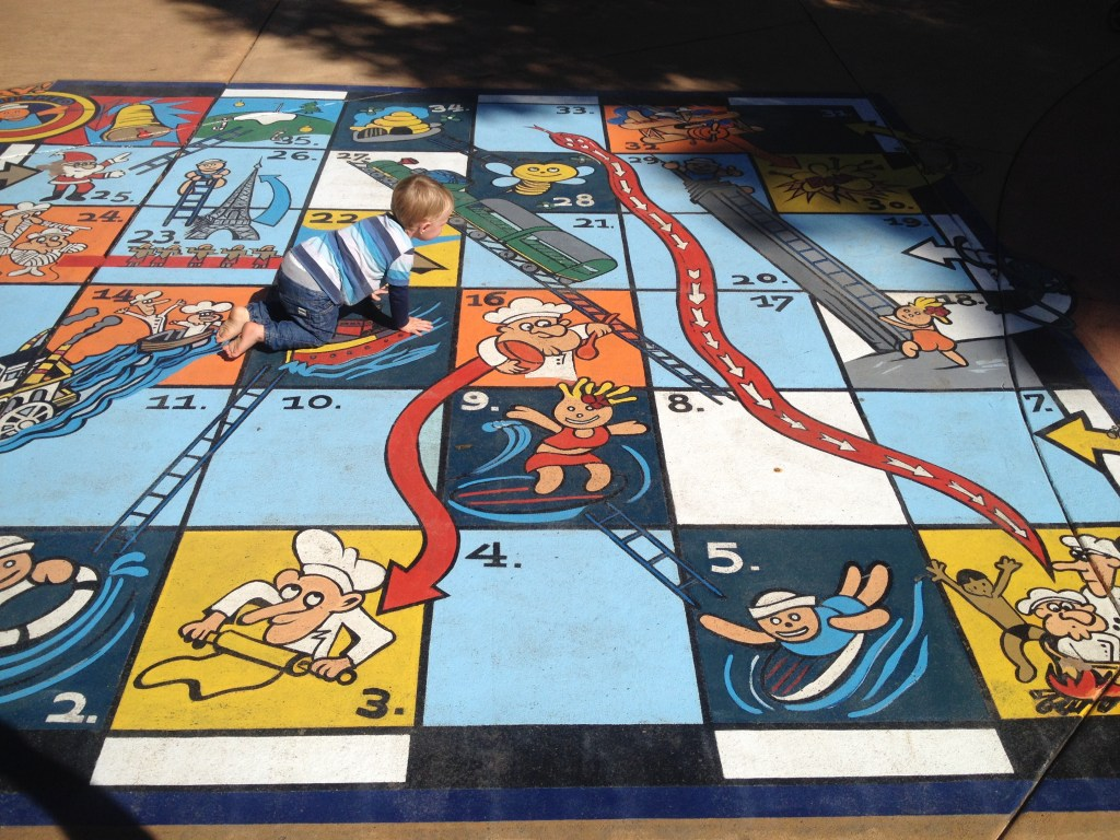 Giant snakes and ladders at the Ginger Factory in Yandina