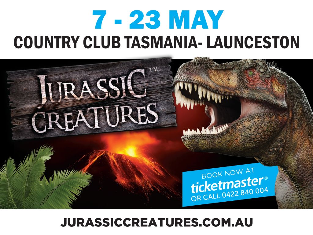 Jurassic Creatures Launceston Poster
