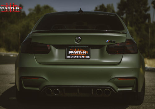 BMW M3 w/ Carbon Fiber Rear Trunk Spoiler and Bumper Diffuser