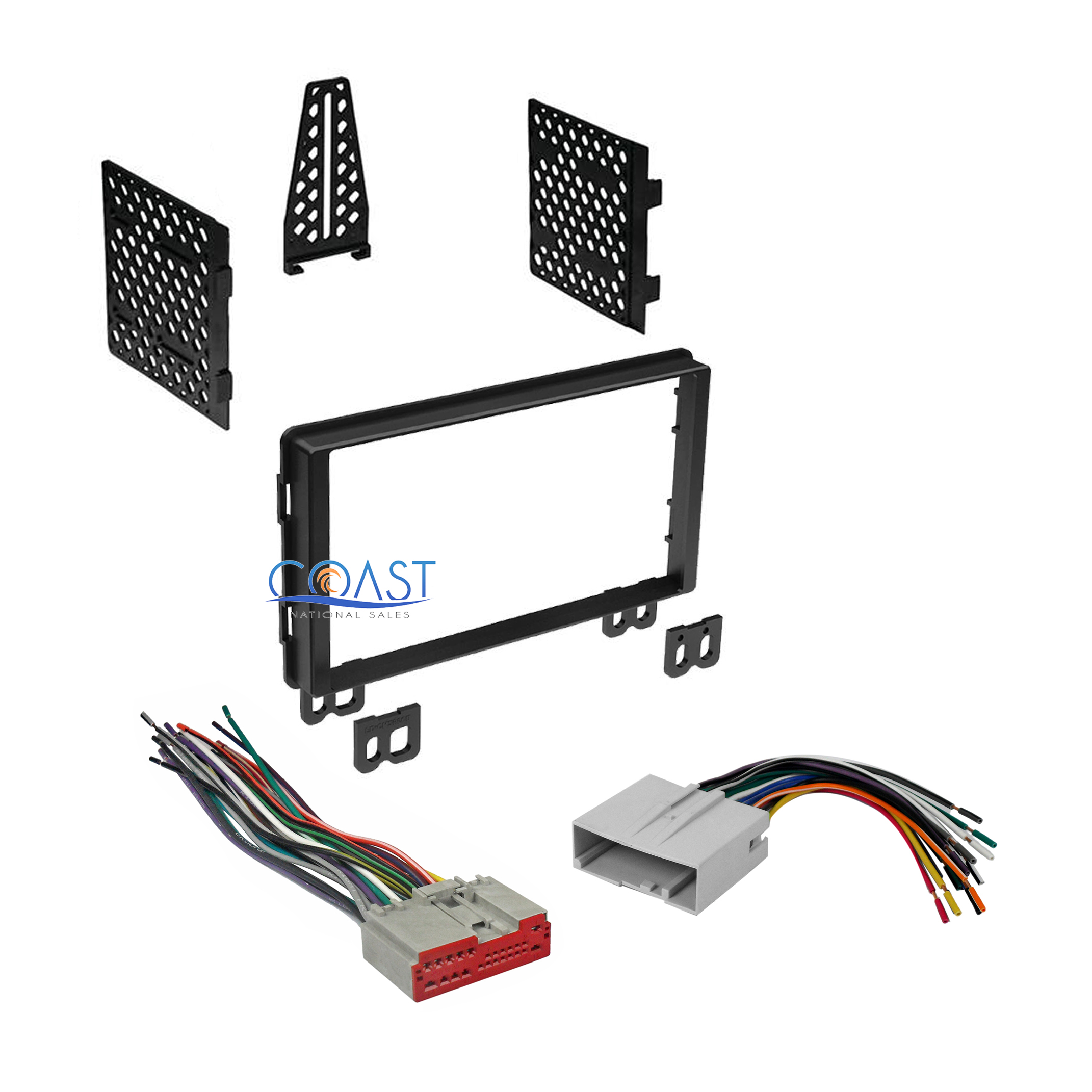 Car Stereo Double Din Dash Kit Harness For Combo