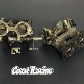 Contaminated motor parts