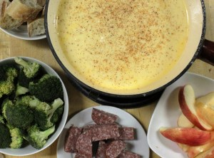 Fondue is an easy, cheesy, yummy one-pot meal.