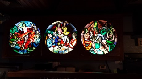 Stained glass window at The Distillery, Moss Beach. Dan Page/CoastsideSlacking