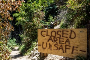 Lots of wilderness and beach closures at Big Sur. Dawn Page / CoastsideSlacking