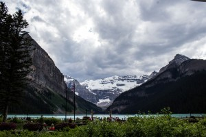Lake Louise from the Fairmont patio.