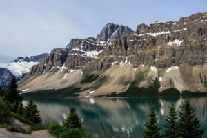 Our first glimpse of Bow lake in the morning at Banff National Park. Dawn Page / CoastsideSlacking