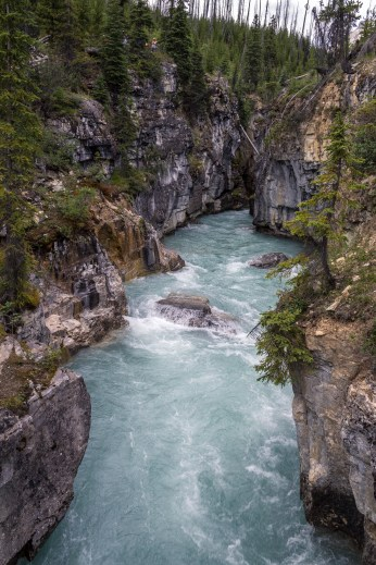 Marble Canyon in Kootenay National Park, BC, Canada. Dawn Page / CoastsideSlacking