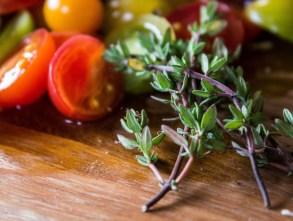 Fresh tomato pesto crostata ingredients. Dawn Page / CoastsideSlacking