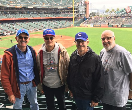 MontaraManDan and Cubbie buddies at AT&T Park,