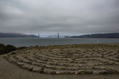 The Lands End Labyrinth, with views of the Golden Gate Bridge. Dawn Page / CoastsideSlacking
