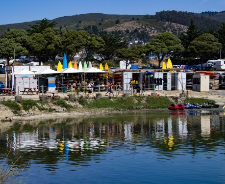 Equipment rentals at Pillar Point Harbor. Dawn Page / CoastsideSlacking