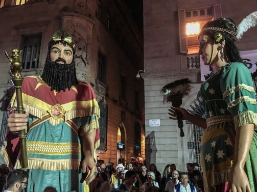 Dance of the gegants during the La Mercé festival in Barcelona. Dan Page / CoastsideSlacking