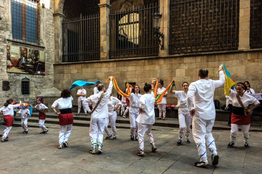 Folk dancing during the La Mercé festival in Barcelona. Dawn Page / CoastsideSlacking