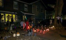 Montara turns into Halloween central, with over-the-top decorations, haunted house, pumpkin carving showcase, day of the dead display, garage band (literally) and a thousand or so of our closest neighbors.