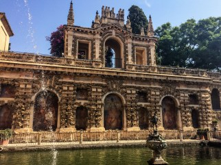 Alcazar palace gardens in Seville. Andalusia, Spain. Dawn Page / CoastsideSlacking