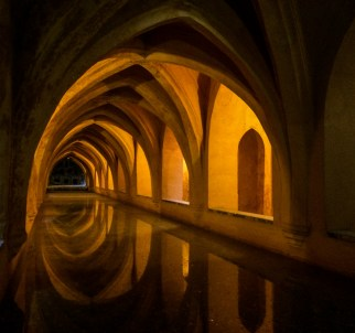 Underground chambers in Alcazar palace in Seville. Andalusia, Spain. Dawn Page / CoastsideSlacking