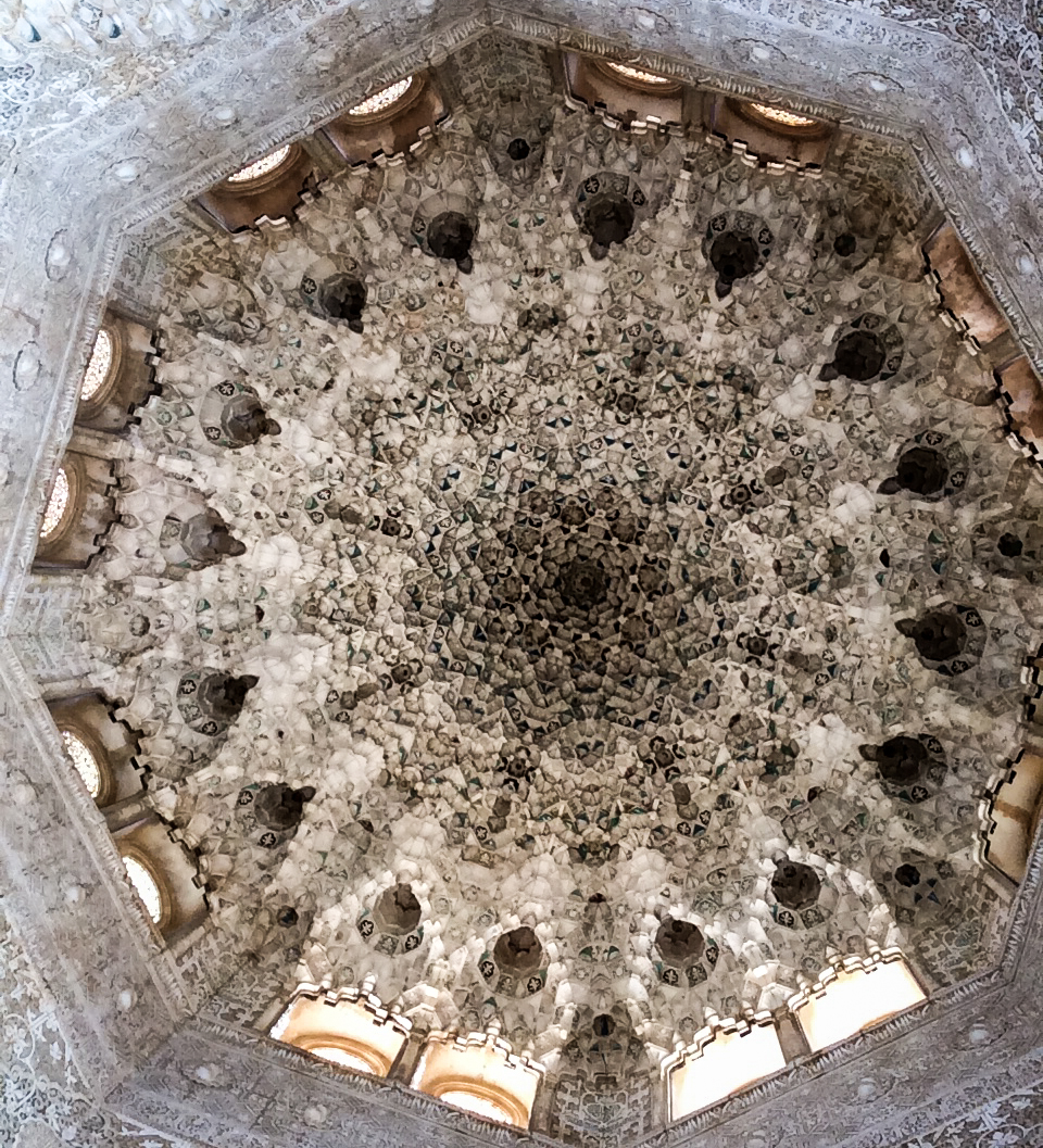 Stunning carvings and plaster work on a domed ceiling in the Alhambra palace in Granada, Spain. Dawn Page / CoastsideSlacking