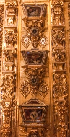 Relics in Basilica San Juan de Dios. Dawn Page / CoastsideSlacking