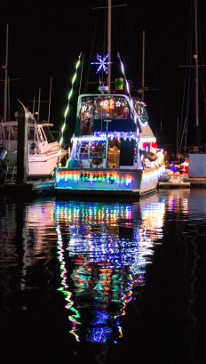 Pillar Point Harbor Lighted Boat Festival. Dawn Page / CoastsideSlacking
