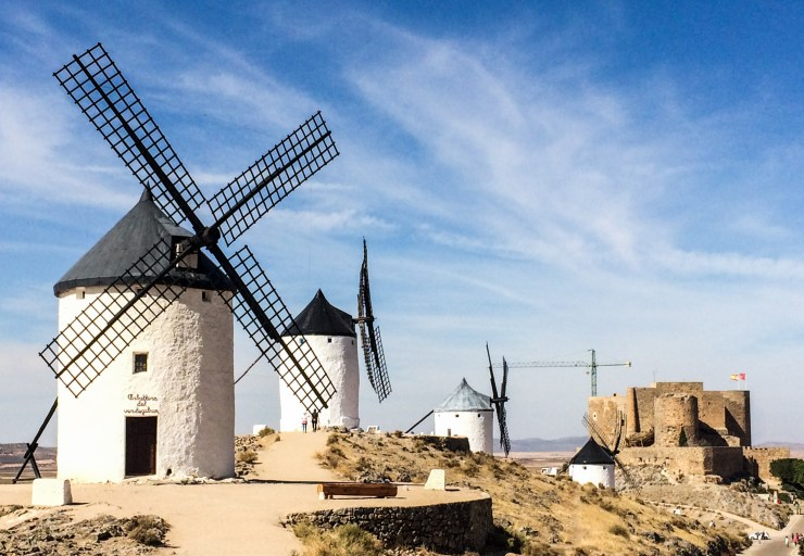 Consuegra windmills in Castile-La Mancha, Spain. Dawn Page / CoastsideSlacking