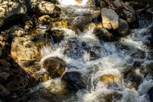 Bridalveil Fall cascades. Dawn Page/Coastside Slacking