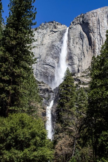 Upper Yosemite Fall. Dawn Page/Coastside Slacking