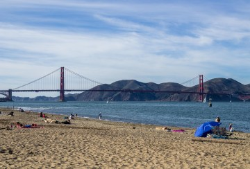 Golden Gage Bridge from Crissy Field Promenade. Dawn Page/CoastsideSlacking