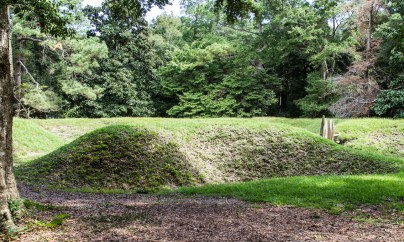 Replica fortification at Fort Raleigh National Historic Site. Dawn Page/CoastsideSlacking