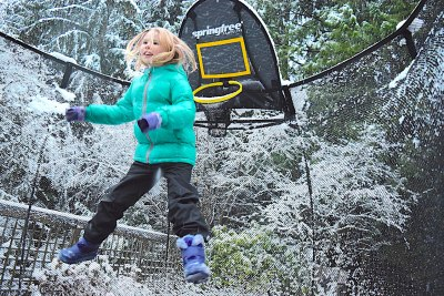 Winter Fun with Springfree Trampoline